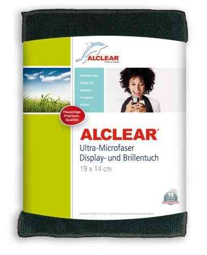 ALCLEAR Displaytuch anthrazit, Brillentuch 19x14 cm